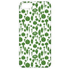Vintage Christmas Ornaments In Green On White Apple Iphone 5 Classic Hardshell Case