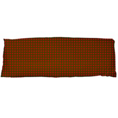Classic Christmas Red And Green Houndstooth Check Pattern Body Pillow Case (dakimakura)