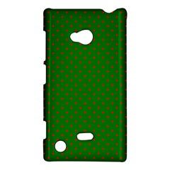 Mini Red Dots On Christmas Green Nokia Lumia 720