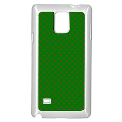 Mini Red Dots On Christmas Green Samsung Galaxy Note 4 Case (white)