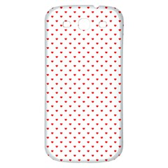 Small Christmas Red Polka Dot Hearts On Snow White Samsung Galaxy S3 S Iii Classic Hardshell Back Case