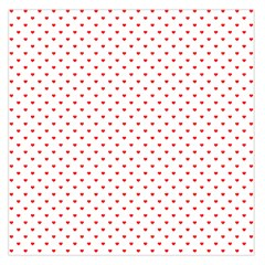 Small Christmas Red Polka Dot Hearts On Snow White Large Satin Scarf (square)