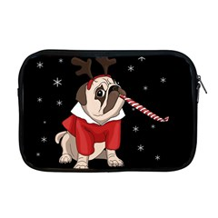 Pug Xmas Apple Macbook Pro 17  Zipper Case