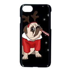 Pug Xmas Apple Iphone 8 Seamless Case (black)