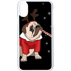 Pug Xmas Apple Iphone X Seamless Case (white)