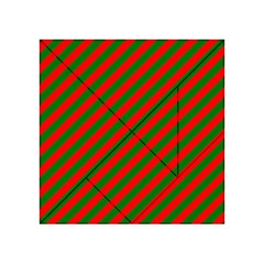 Red And Green Christmas Candycane Stripes Acrylic Tangram Puzzle (4  X 4 )