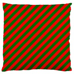 Red And Green Christmas Candycane Stripes Standard Flano Cushion Case (two Sides)