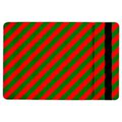 Red And Green Christmas Candycane Stripes Ipad Air 2 Flip