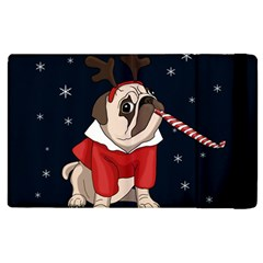 Pug Xmas Apple Ipad Pro 9 7   Flip Case