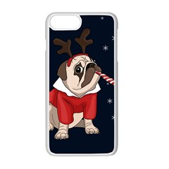 Pug Xmas Apple Iphone 7 Plus Seamless Case (white)