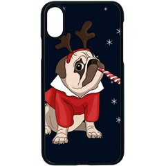 Pug Xmas Apple Iphone X Seamless Case (black)
