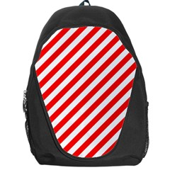 Christmas Red And White Candy Cane Stripes Backpack Bag