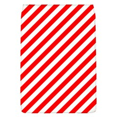 Christmas Red And White Candy Cane Stripes Flap Covers (l)