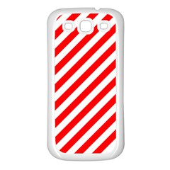 Christmas Red And White Candy Cane Stripes Samsung Galaxy S3 Back Case (white)