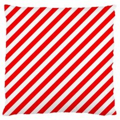 Christmas Red And White Candy Cane Stripes Standard Flano Cushion Case (one Side)
