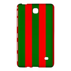 Wide Red And Green Christmas Cabana Stripes Samsung Galaxy Tab 4 (7 ) Hardshell Case