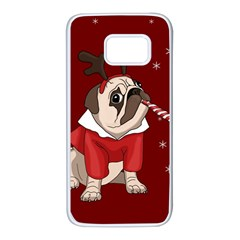 Pug Xmas Samsung Galaxy S7 White Seamless Case