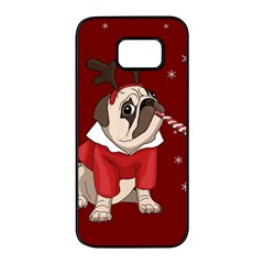 Pug Xmas Samsung Galaxy S7 Edge Black Seamless Case