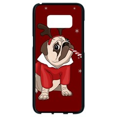 Pug Xmas Samsung Galaxy S8 Black Seamless Case