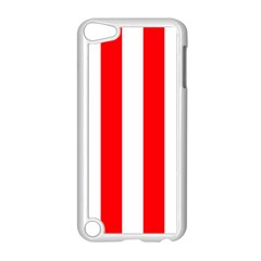 Wide Red And White Christmas Cabana Stripes Apple Ipod Touch 5 Case (white)