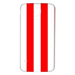 Wide Red And White Christmas Cabana Stripes Samsung Galaxy S5 Back Case (white)