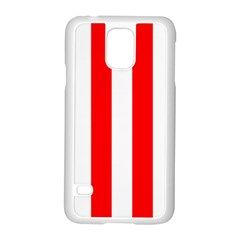 Wide Red And White Christmas Cabana Stripes Samsung Galaxy S5 Case (white)
