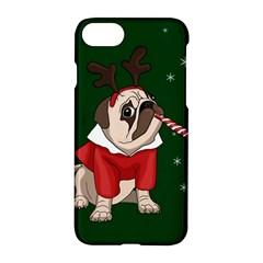 Pug Xmas Apple Iphone 8 Hardshell Case