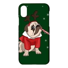Pug Xmas Apple Iphone X Hardshell Case