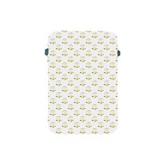 Gold Scales Of Justice On White Repeat Pattern All Over Print Apple Ipad Mini Protective Soft Cases