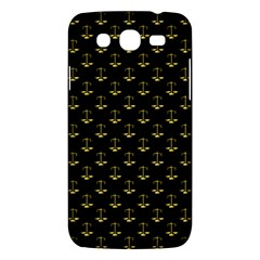 Gold Scales Of Justice On Black Repeat Pattern All Over Print  Samsung Galaxy Mega 5 8 I9152 Hardshell Case