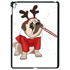 Pug Xmas Apple Ipad Pro 9 7   Black Seamless Case