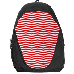 Christmas Red And White Chevron Stripes Backpack Bag