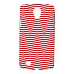 Christmas Red And White Chevron Stripes Galaxy S4 Active