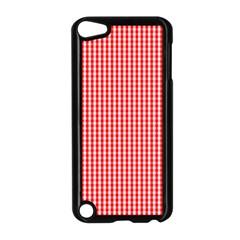 Small Snow White And Christmas Red Gingham Check Plaid Apple Ipod Touch 5 Case (black)