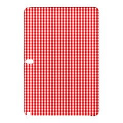 Small Snow White And Christmas Red Gingham Check Plaid Samsung Galaxy Tab Pro 12 2 Hardshell Case