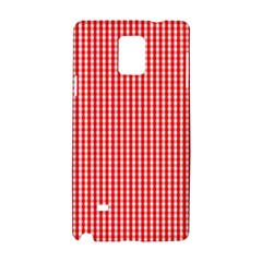 Small Snow White And Christmas Red Gingham Check Plaid Samsung Galaxy Note 4 Hardshell Case