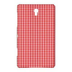 Small Snow White And Christmas Red Gingham Check Plaid Samsung Galaxy Tab S (8 4 ) Hardshell Case