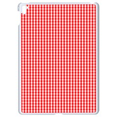 Small Snow White And Christmas Red Gingham Check Plaid Apple Ipad Pro 9 7   White Seamless Case