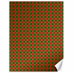 Large Red And Green Christmas Gingham Check Tartan Plaid Canvas 18  X 24