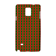 Large Red And Green Christmas Gingham Check Tartan Plaid Samsung Galaxy Note 4 Hardshell Case