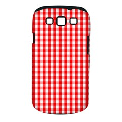 Large Christmas Red And White Gingham Check Plaid Samsung Galaxy S Iii Classic Hardshell Case (pc+silicone)