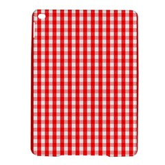 Large Christmas Red And White Gingham Check Plaid Ipad Air 2 Hardshell Cases