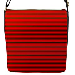 Christmas Red And Green Bedding Stripes Flap Messenger Bag (s)
