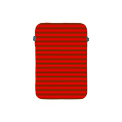 Christmas Red And Green Bedding Stripes Apple Ipad Mini Protective Soft Cases