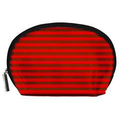 Christmas Red And Green Bedding Stripes Accessory Pouches (large)