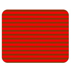 Christmas Red And Green Bedding Stripes Double Sided Flano Blanket (medium)