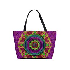 Mandala In Heavy Metal Lace And Forks Shoulder Handbags