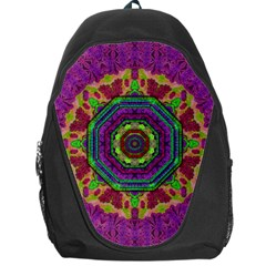 Mandala In Heavy Metal Lace And Forks Backpack Bag