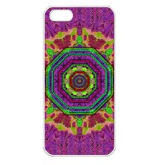 Mandala In Heavy Metal Lace And Forks Apple Iphone 5 Seamless Case (white)