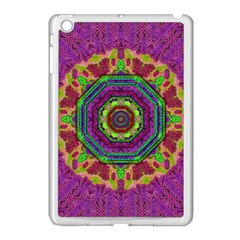 Mandala In Heavy Metal Lace And Forks Apple Ipad Mini Case (white)